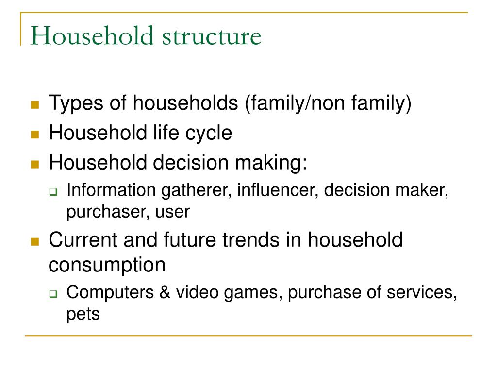Household structure