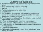 automotive suppliers