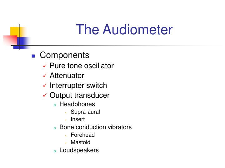 The audiometer3