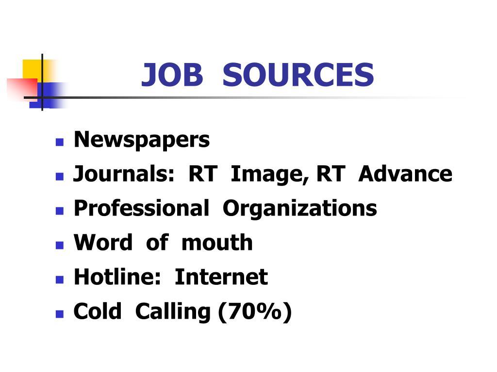 JOB  SOURCES