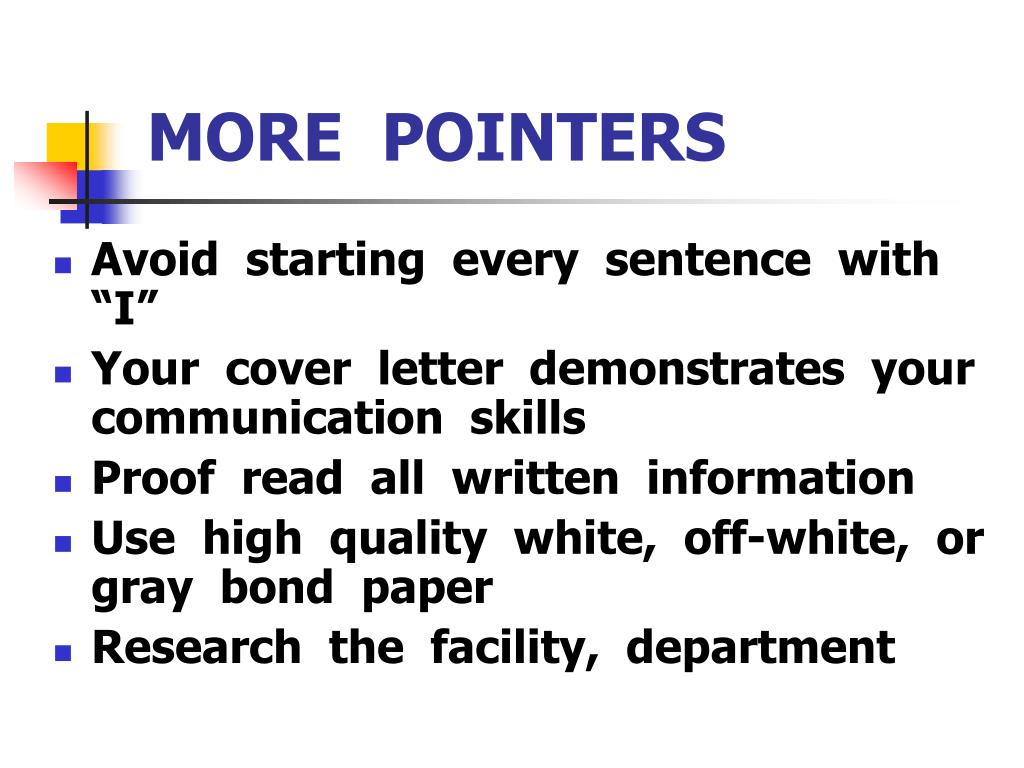 MORE  POINTERS
