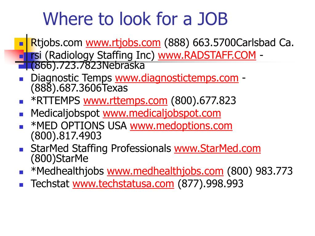 Where to look for a JOB