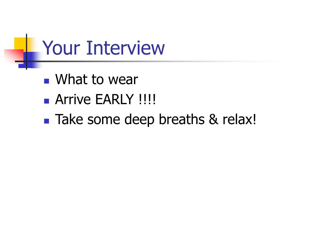 Your Interview