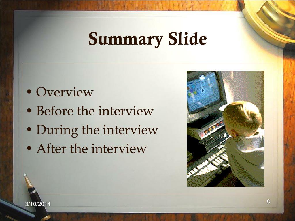 Summary Slide