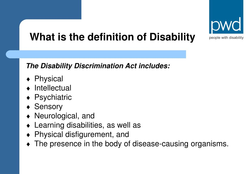 What is the definition of Disability