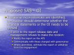 proposed sas oi51