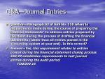 q a journal entries