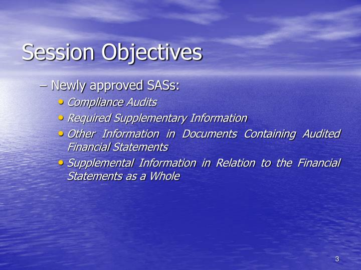 Session objectives3