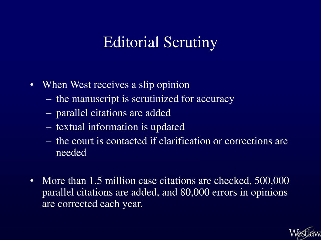 Editorial Scrutiny