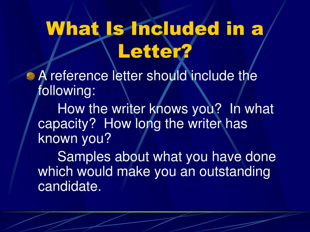 What Is Included in a Letter?
