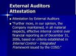 external auditors attestation