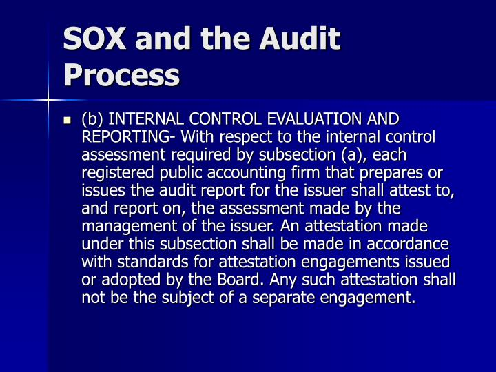 Sox and the audit process3