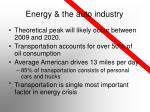 energy the auto industry