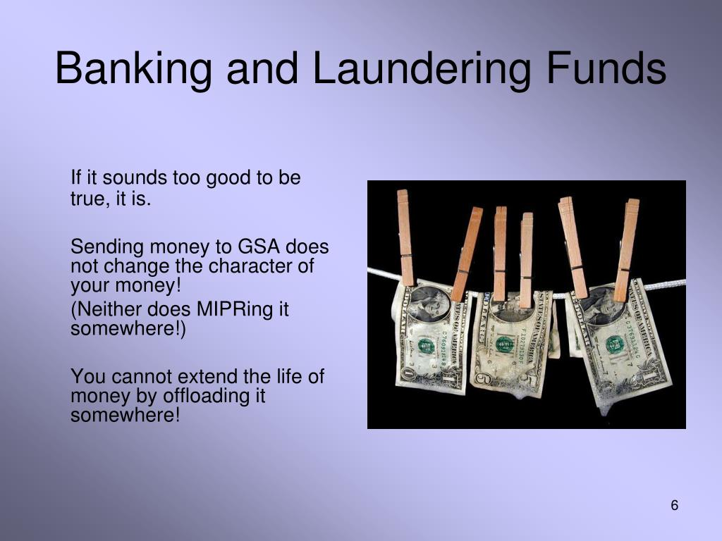 Banking and Laundering Funds