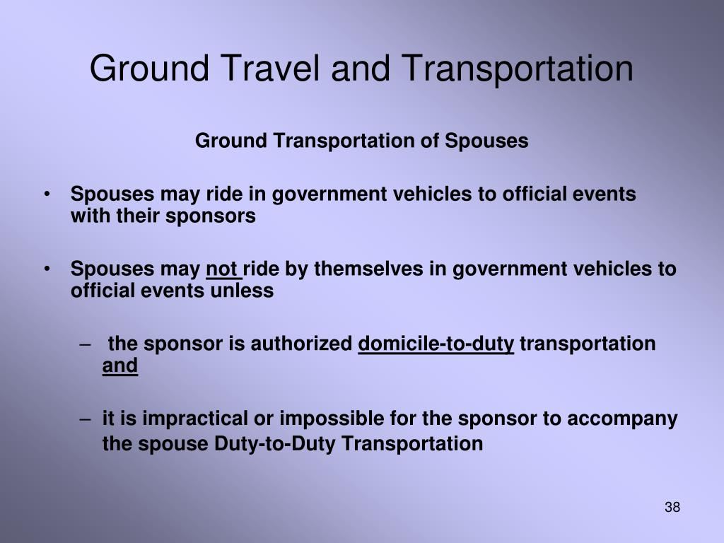 Ground Travel and Transportation