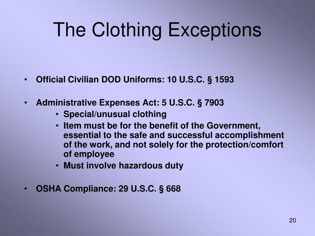 The Clothing Exceptions