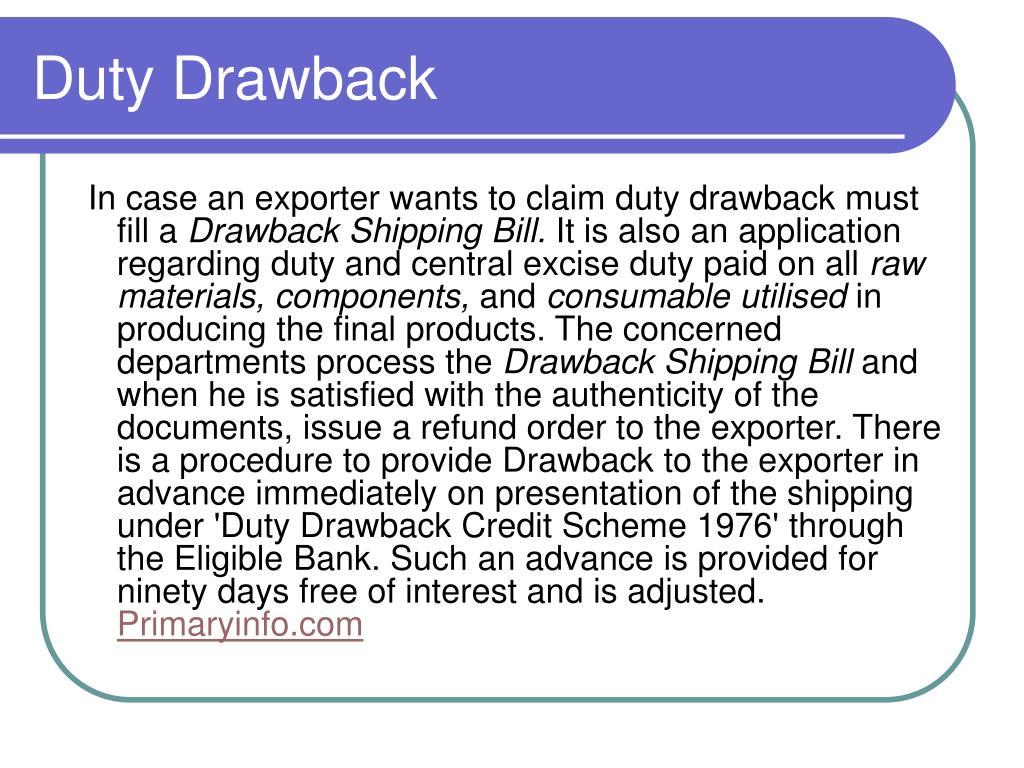 Duty Drawback
