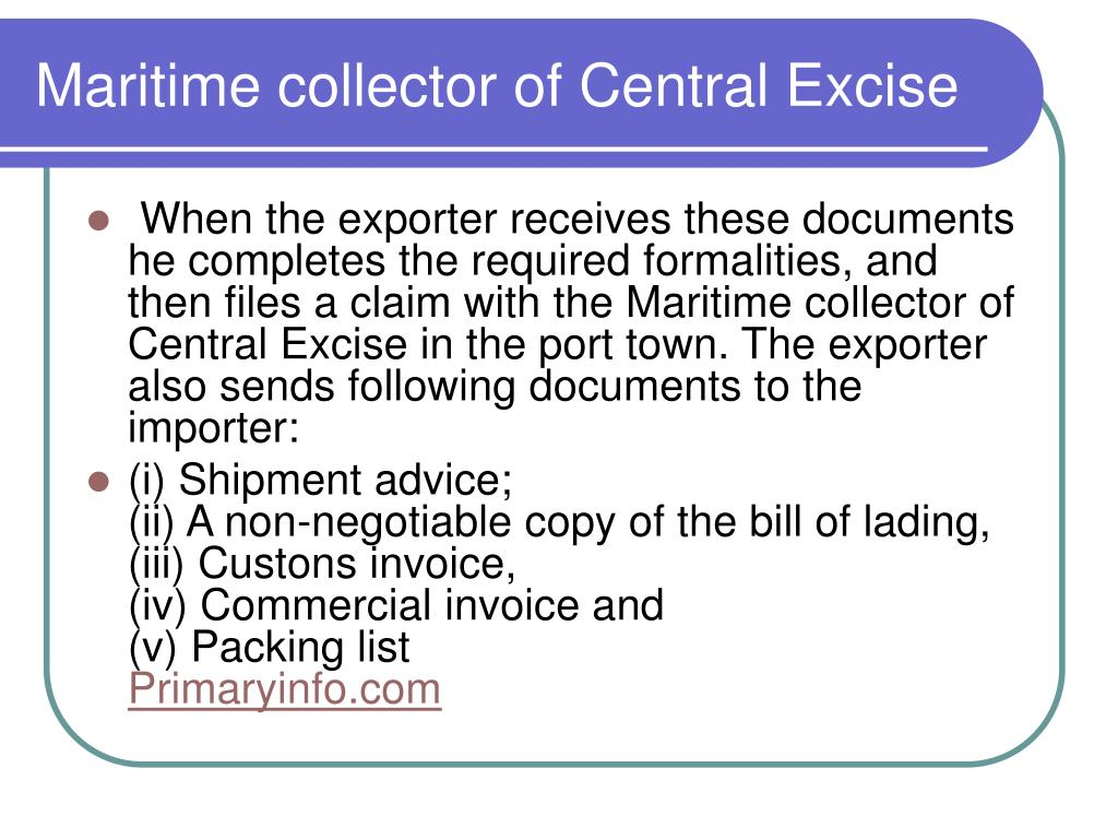 Maritime collector of Central Excise