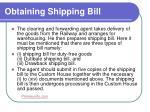 obtaining shipping bill