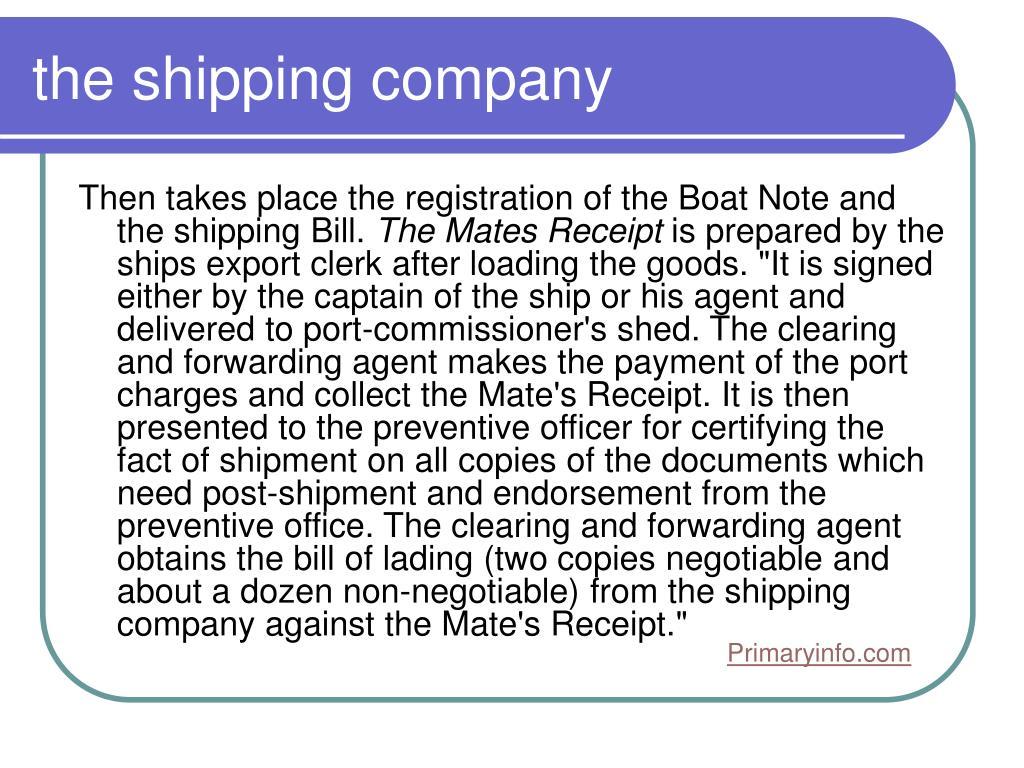 the shipping company