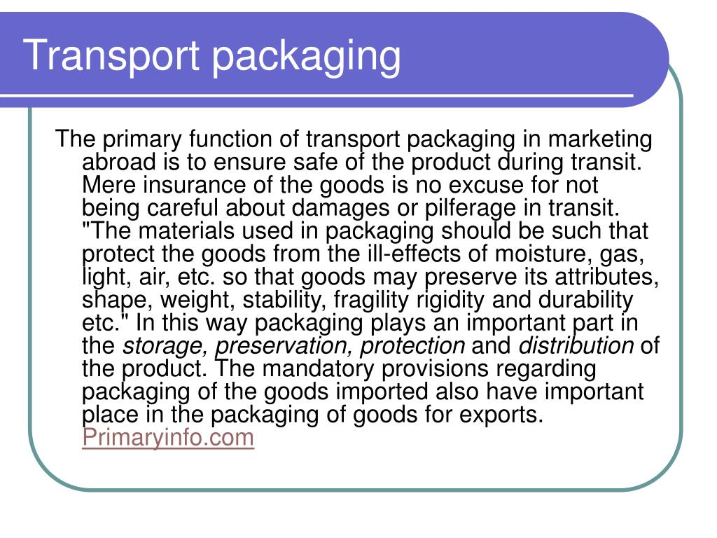 Transport packaging