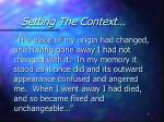 setting the context4