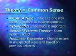 theory common sense