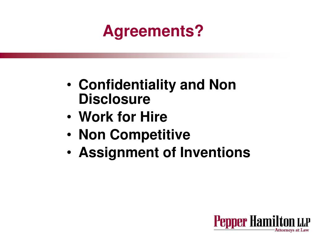 Agreements?