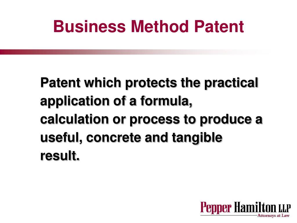 Business Method Patent