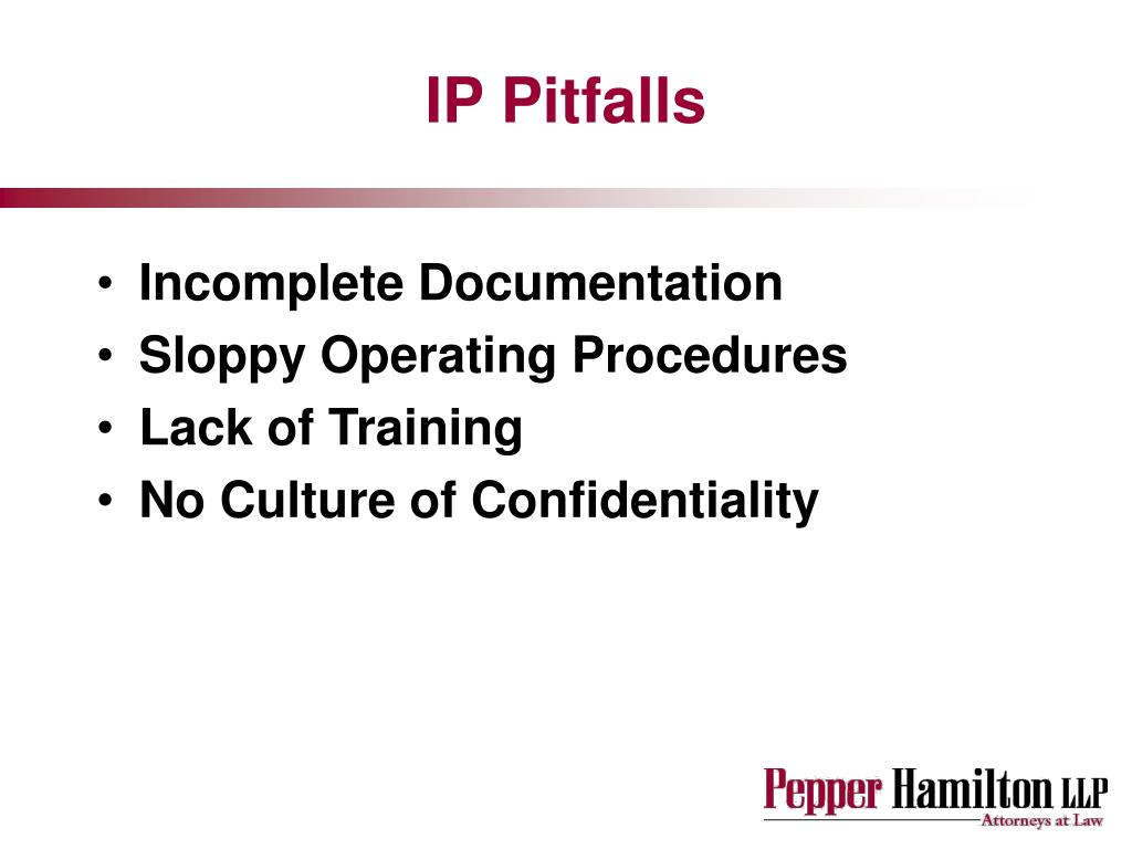 IP Pitfalls