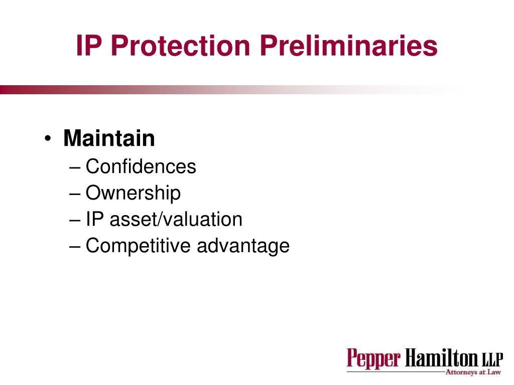 IP Protection Preliminaries