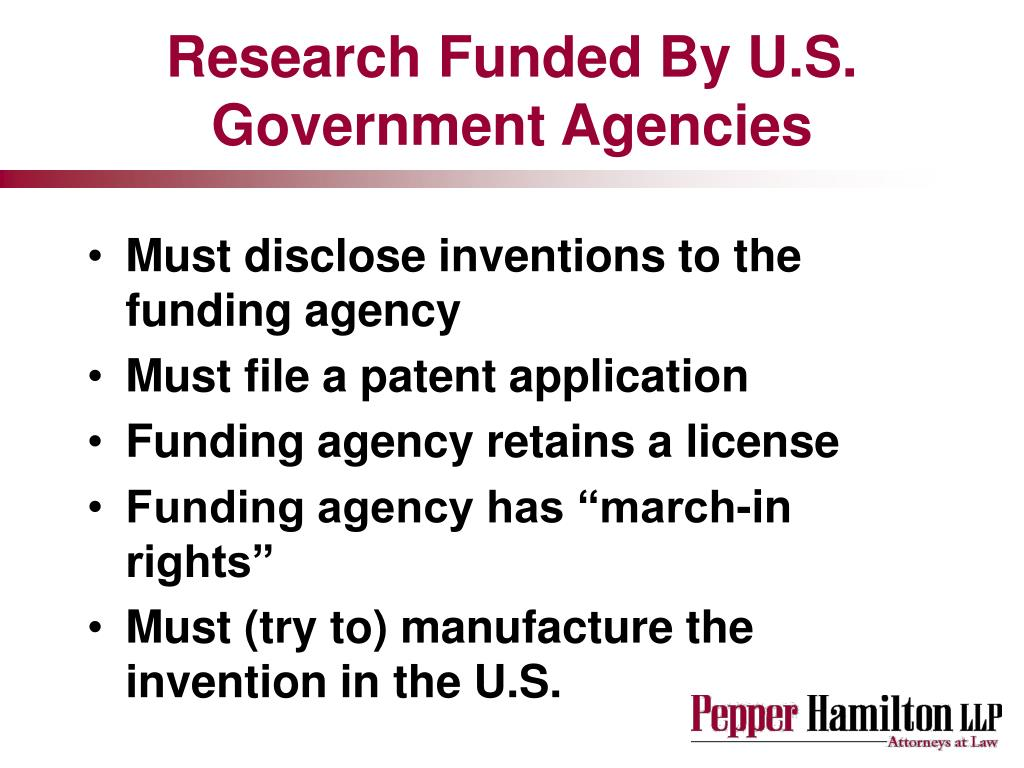 Research Funded By U.S. Government Agencies