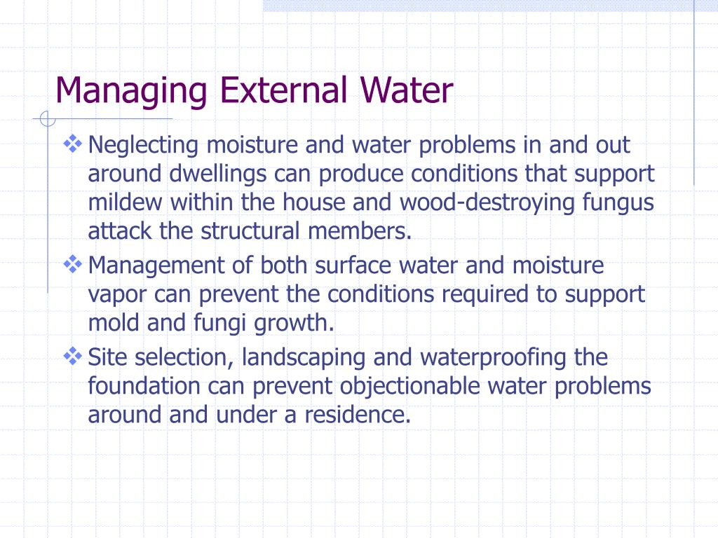Managing External Water