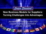 new business models for suppliers turning challenges into advantages