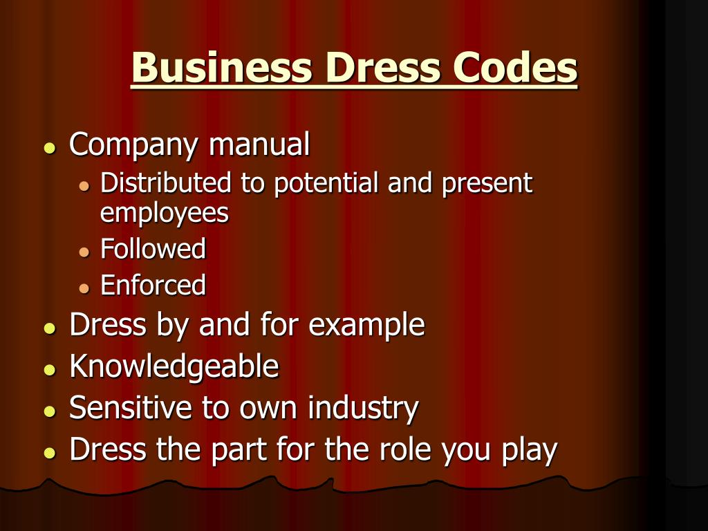 Business Dress Codes