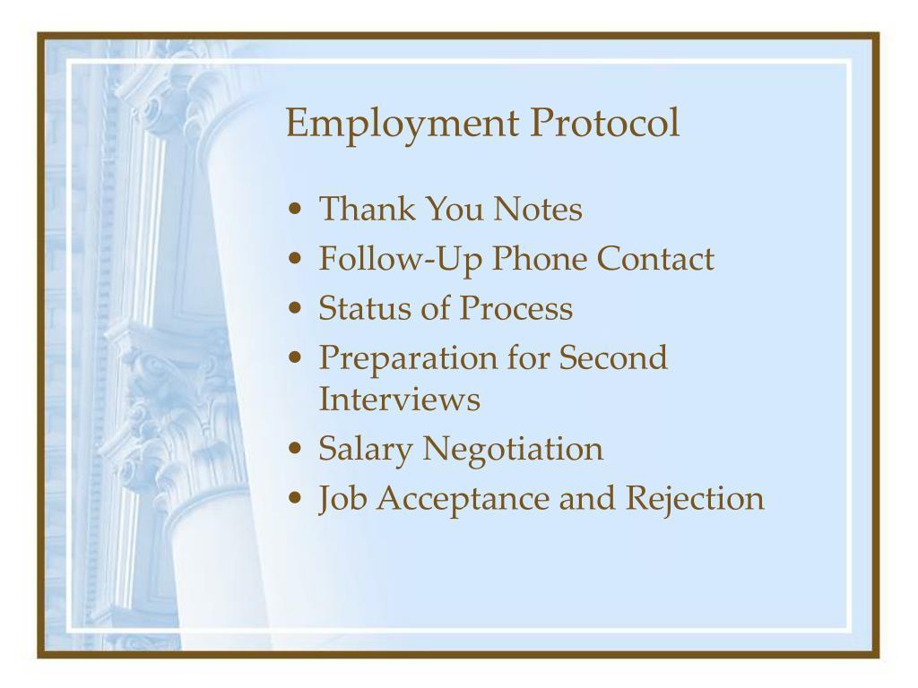 Employment Protocol