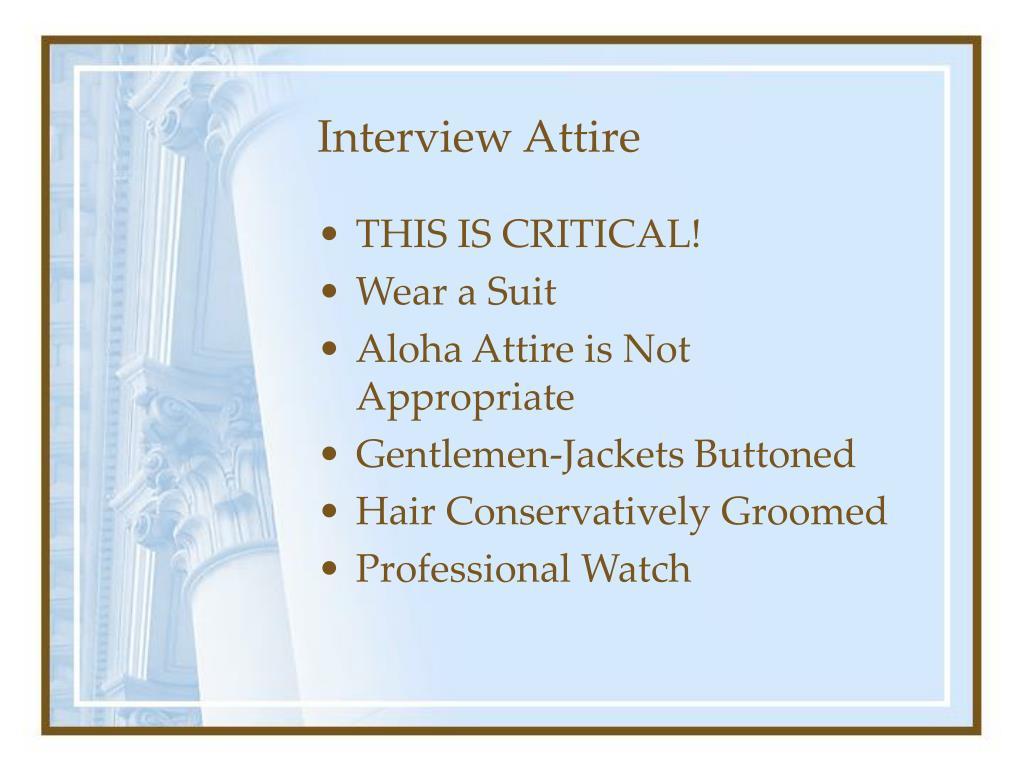 Interview Attire