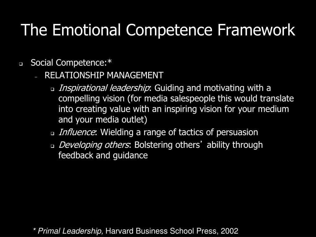 The Emotional Competence Framework