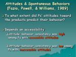 attitudes spontaneous behaviors fazio powell williams 198963