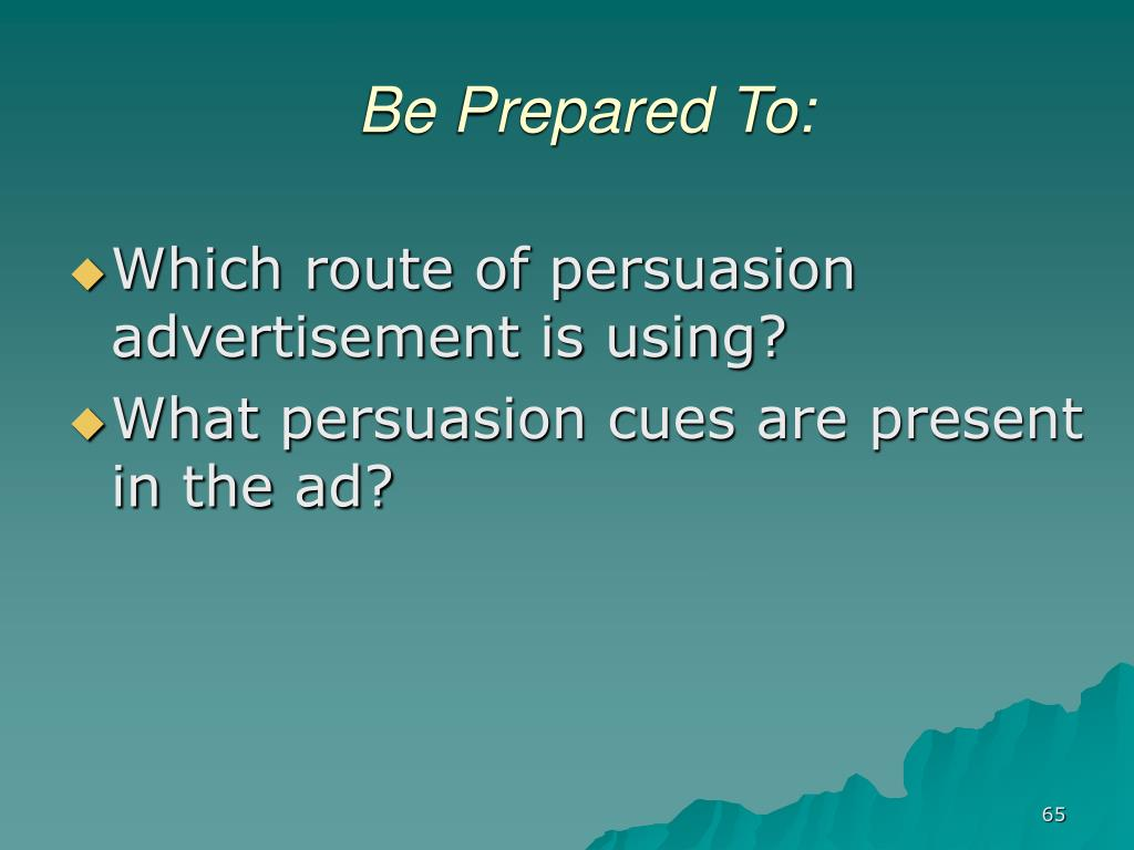 Be Prepared To: