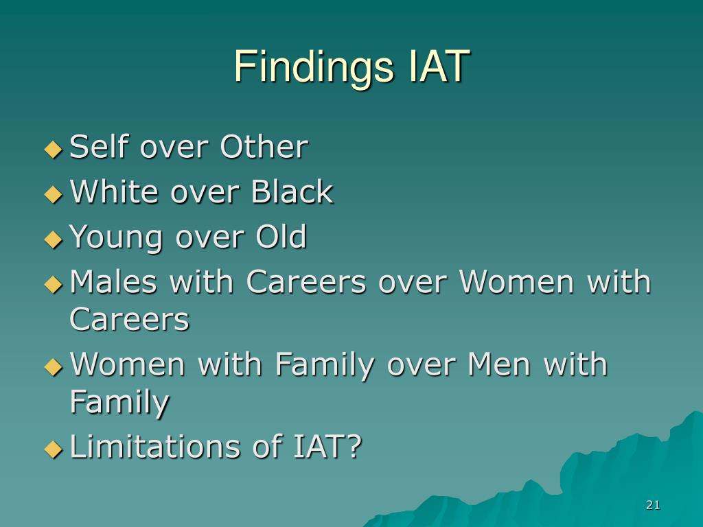 Findings IAT