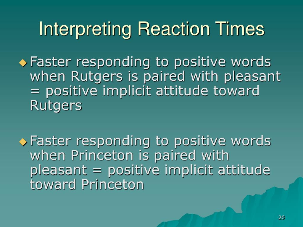 Interpreting Reaction Times