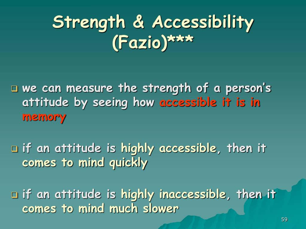 Strength & Accessibility (Fazio)***
