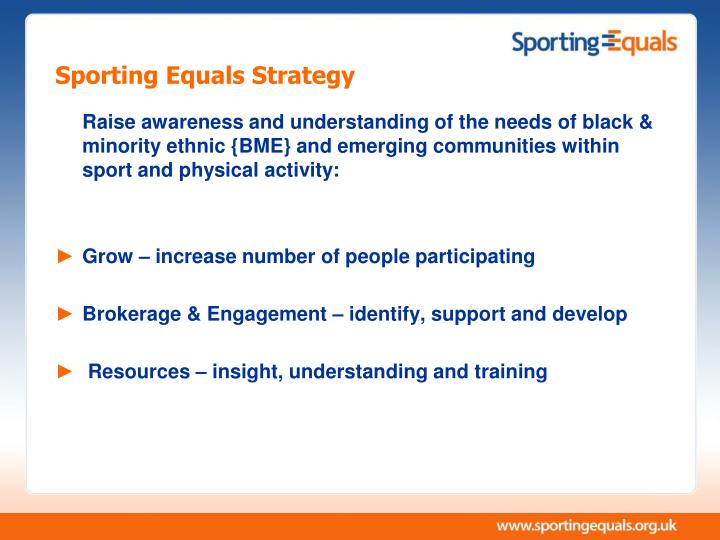 Sporting Equals Strategy