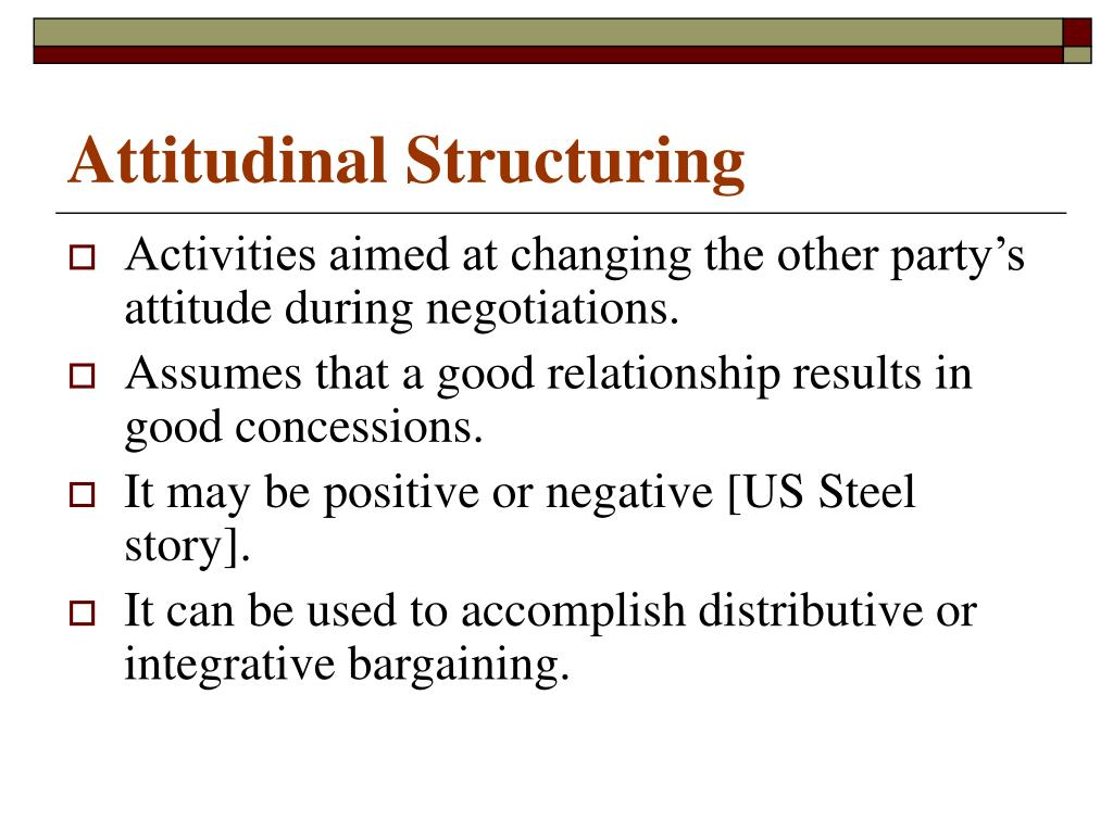 Attitudinal Structuring
