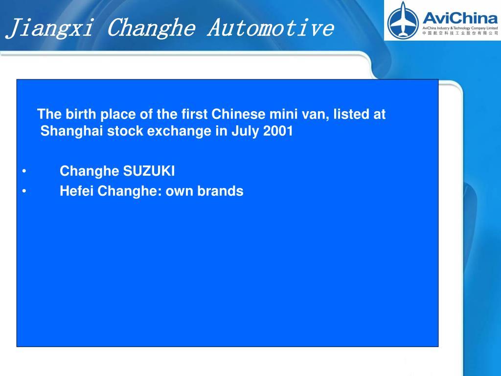 Jiangxi Changhe Automotive