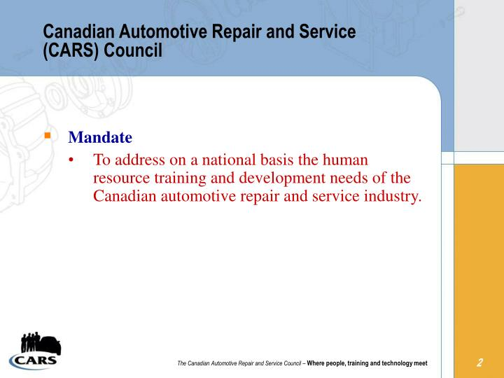 Canadian automotive repair and service cars council