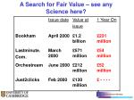 a search for fair value see any science here