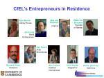 cfel s entrepreneurs in residence