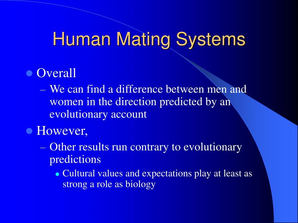 Human Mating Systems